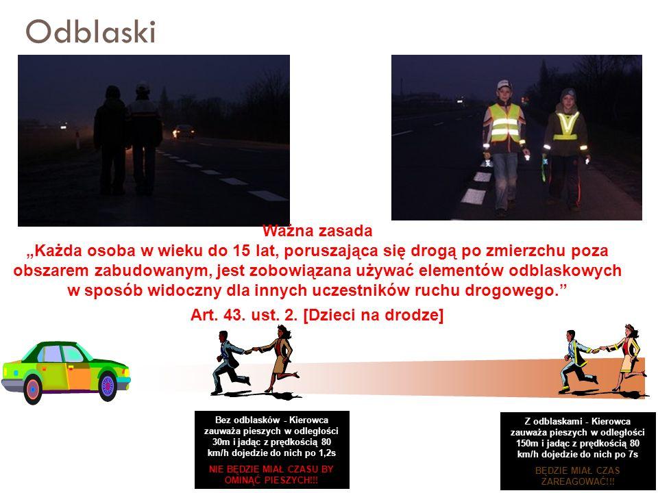Art. 43. ust. 2. [Dzieci na drodze]